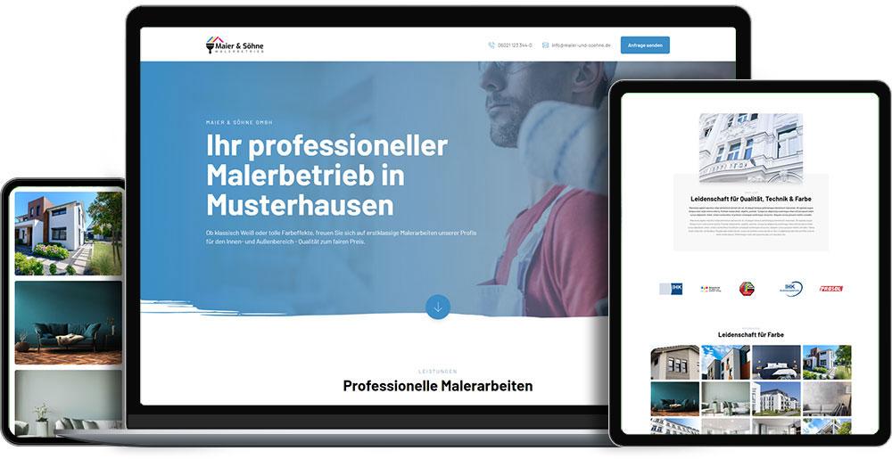 Handwerk-Website: One-Pager
